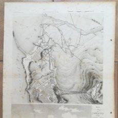 Arte: MAPA VISTA OPTICA DE TARRAGONA - GUERRA DEL FRANCES O DE LA INDEPENCIA - SUCHET - AÑO 1811. Lote 168830816