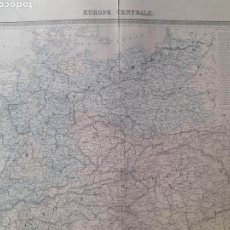 Arte: MAPA ORIGINAL S.XIX. EUROPE CENTRALE.. Lote 168877496