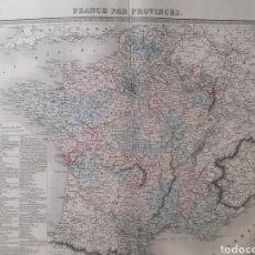 Arte: MAPA ORIGINAL S.XIX. FRANCE PAR PROVINCES.. Lote 168878690