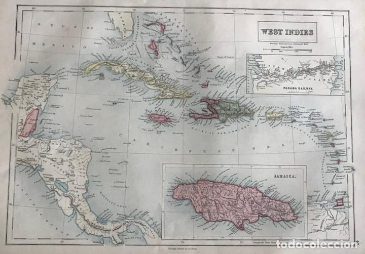 MAPA DE AMÉRICA CENTRAL Y MAR CARIBE, 1867. BLACK/BARTHOLOMEW (Arte - Cartografía Antigua (hasta S. XIX))