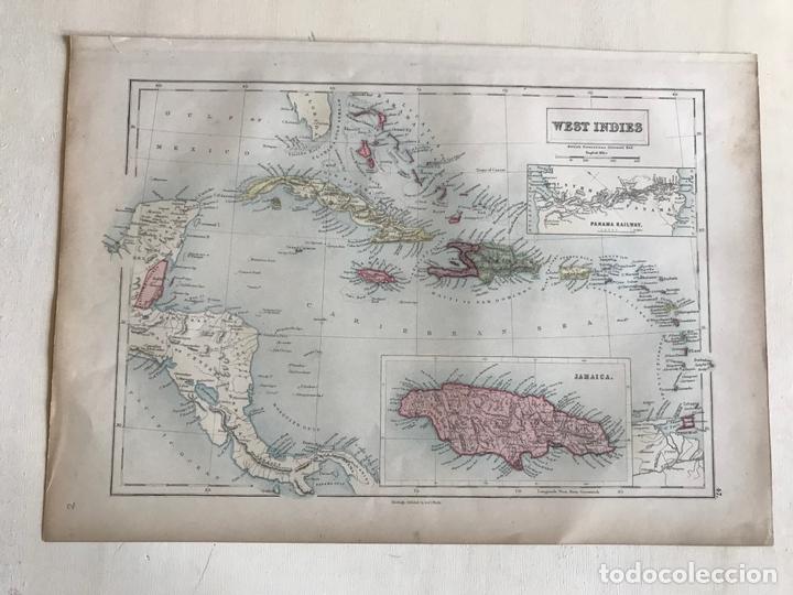 Arte: Mapa de América central y Mar Caribe, 1867. Black/Bartholomew - Foto 2 - 169086008