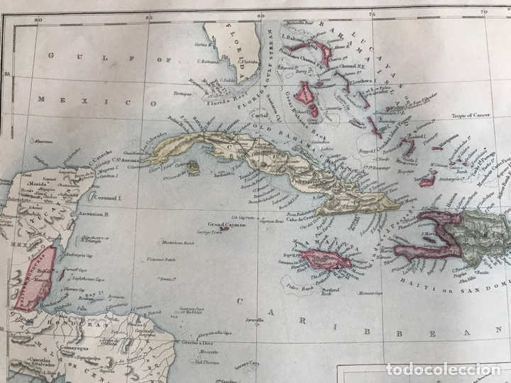 Arte: Mapa de América central y Mar Caribe, 1867. Black/Bartholomew - Foto 3 - 169086008