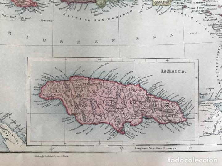 Arte: Mapa de América central y Mar Caribe, 1867. Black/Bartholomew - Foto 5 - 169086008