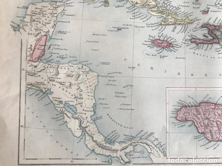 Arte: Mapa de América central y Mar Caribe, 1867. Black/Bartholomew - Foto 6 - 169086008