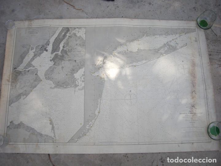 Arte: new york port ma, direccion de hidrografia 1874,mapa del puerto de nueva york,muy raro,rare - Foto 2 - 169183056