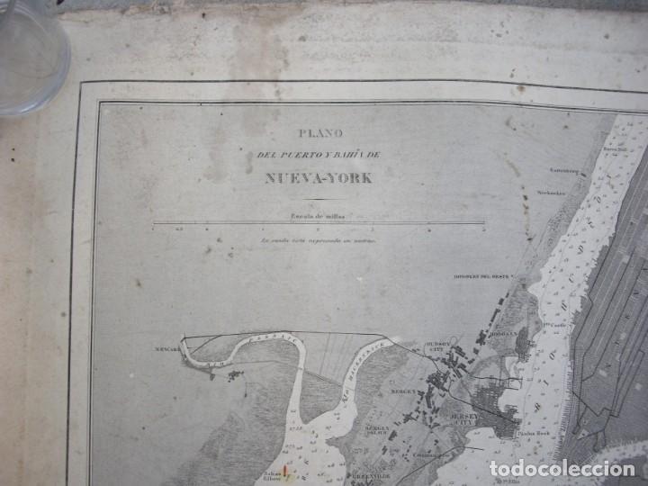 Arte: new york port ma, direccion de hidrografia 1874,mapa del puerto de nueva york,muy raro,rare - Foto 4 - 169183056