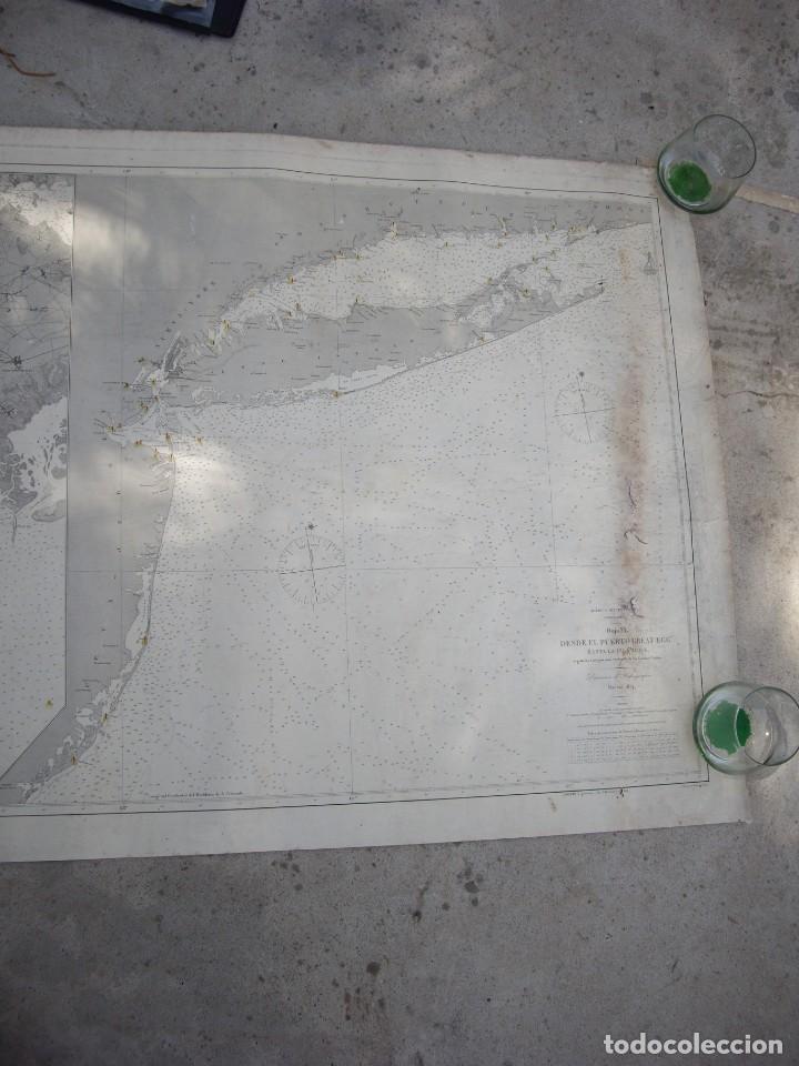 Arte: new york port ma, direccion de hidrografia 1874,mapa del puerto de nueva york,muy raro,rare - Foto 5 - 169183056