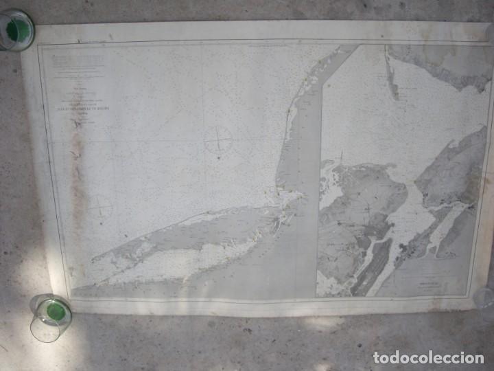 Arte: new york port ma, direccion de hidrografia 1874,mapa del puerto de nueva york,muy raro,rare - Foto 6 - 169183056