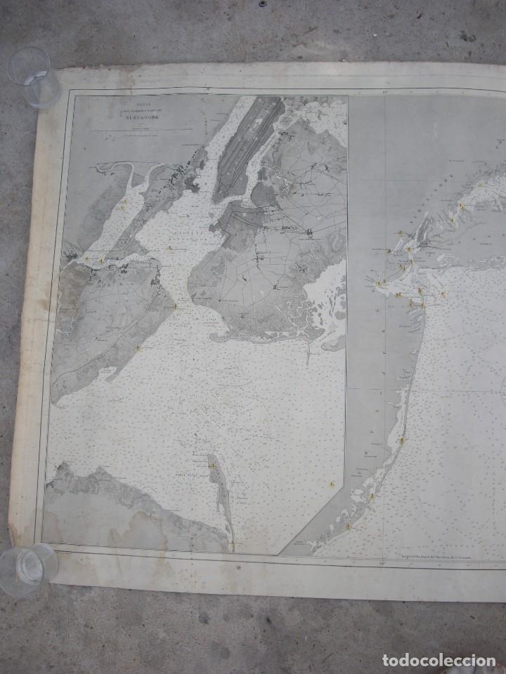 Arte: new york port ma, direccion de hidrografia 1874,mapa del puerto de nueva york,muy raro,rare - Foto 7 - 169183056
