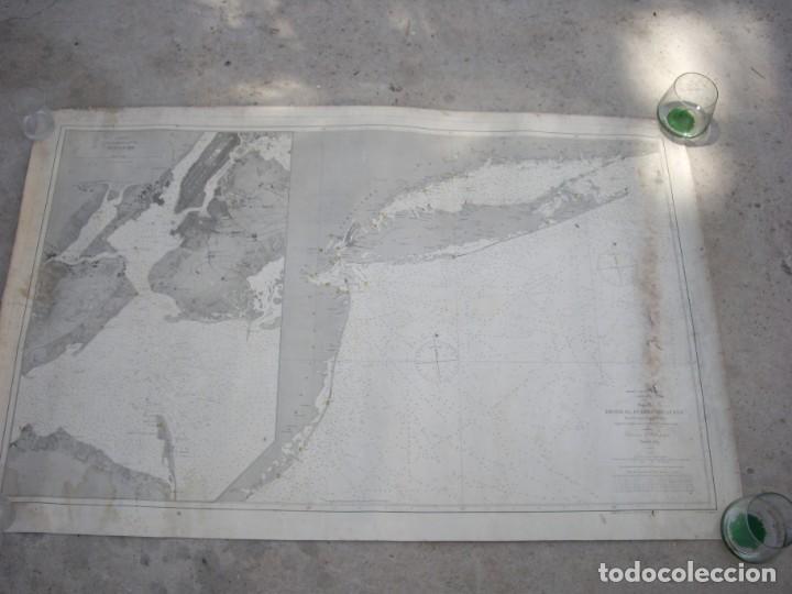 Arte: new york port ma, direccion de hidrografia 1874,mapa del puerto de nueva york,muy raro,rare - Foto 8 - 169183056