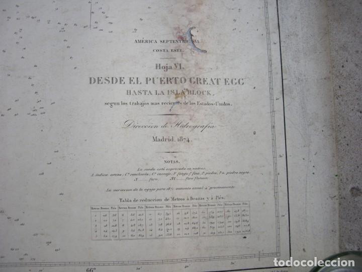 Arte: new york port ma, direccion de hidrografia 1874,mapa del puerto de nueva york,muy raro,rare - Foto 9 - 169183056
