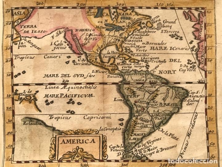 MAPA DE AMÉRICA DEL NORTE, CENTRO Y SUR, 1694. PIERRE DU VAL (Arte - Cartografía Antigua (hasta S. XIX))