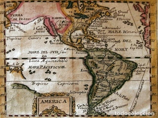 Arte: Mapa de América del norte, centro y sur, 1694. Pierre du Val - Foto 2 - 170150922