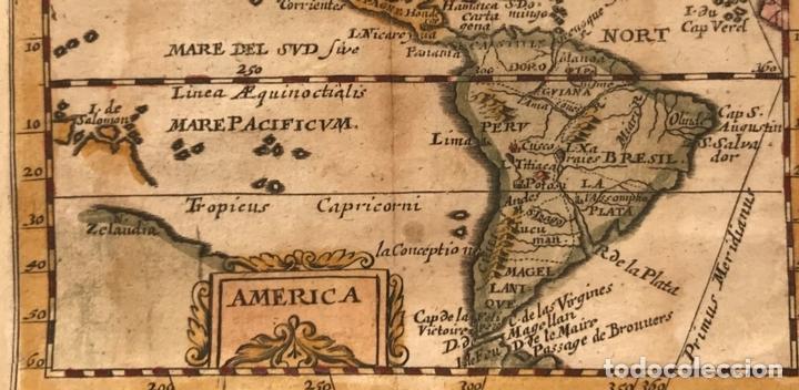 Arte: Mapa de América del norte, centro y sur, 1694. Pierre du Val - Foto 5 - 170150922