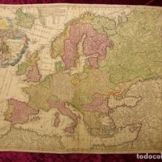 Arte: GRAN MAPA DE EUROPA, 1720. J.B. HOMANN. Lote 170160848