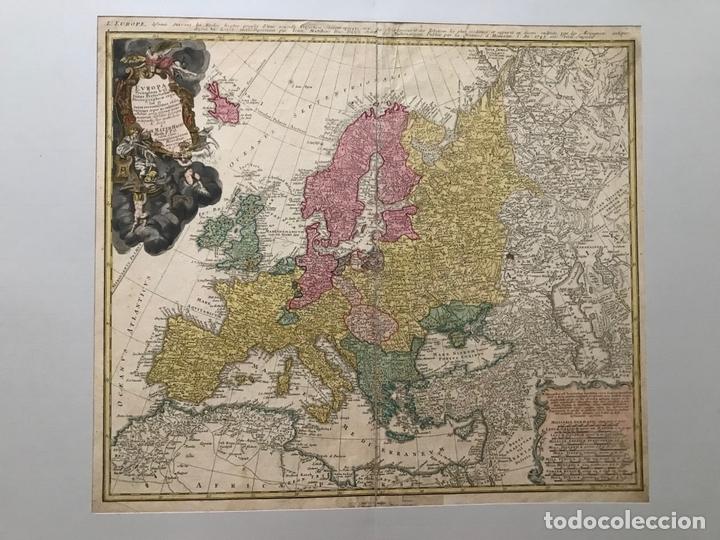 GRAN MAPA DE EUROPA,1740. J. HOMANN/HOMANN HEIRS (Arte - Cartografía Antigua (hasta S. XIX))