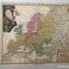 Arte: GRAN MAPA DE EUROPA,1740. J. HOMANN/HOMANN HEIRS. Lote 170175830