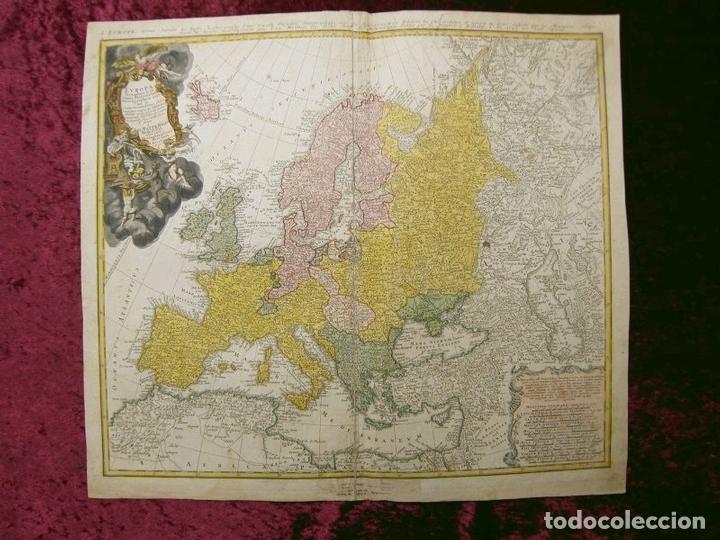 Arte: Gran mapa de Europa,1740. J. Homann/Homann Heirs - Foto 2 - 170175830