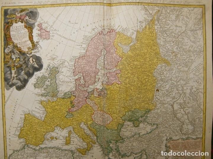Arte: Gran mapa de Europa,1740. J. Homann/Homann Heirs - Foto 3 - 170175830