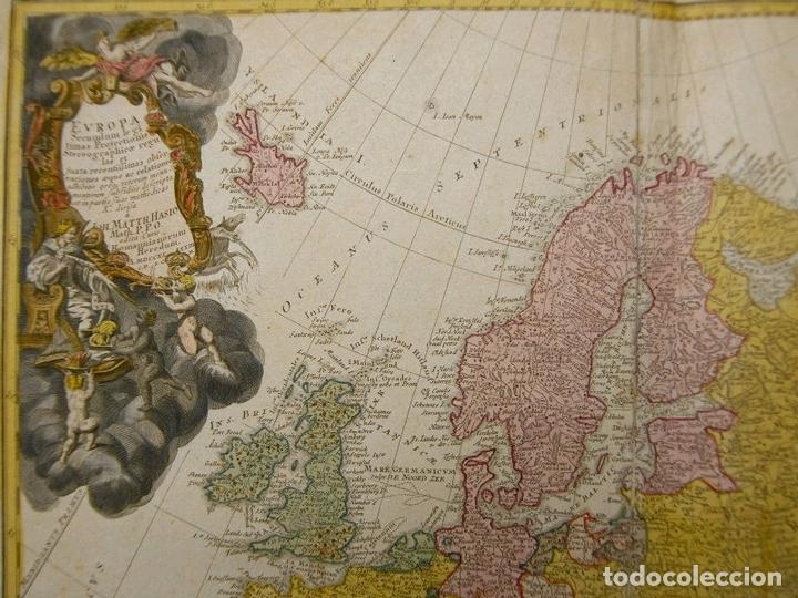 Arte: Gran mapa de Europa,1740. J. Homann/Homann Heirs - Foto 4 - 170175830