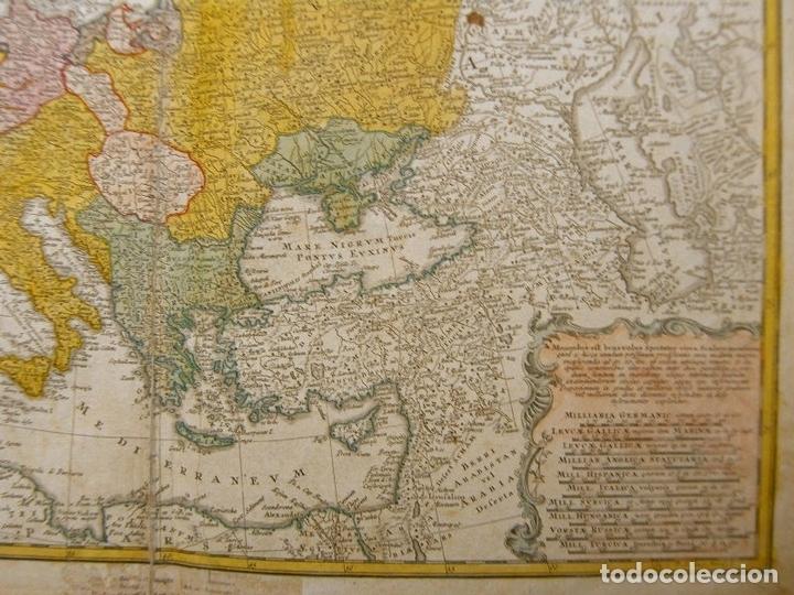 Arte: Gran mapa de Europa,1740. J. Homann/Homann Heirs - Foto 7 - 170175830