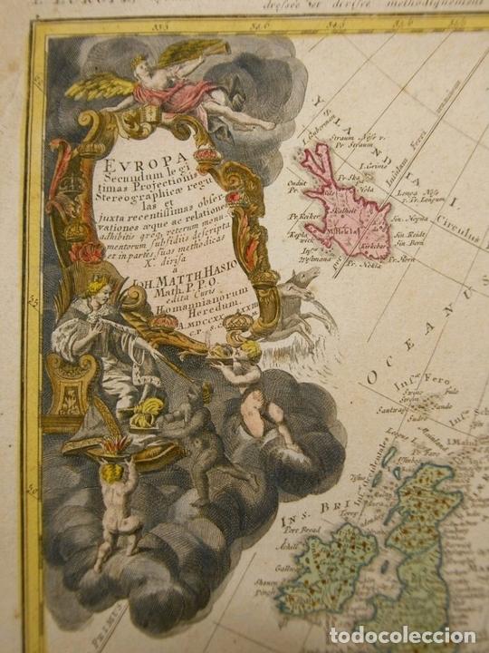 Arte: Gran mapa de Europa,1740. J. Homann/Homann Heirs - Foto 10 - 170175830