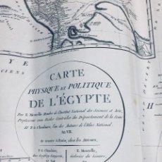 Art: MAPA EGIPTO DELTA CARTE PHYSIQUE POLITIQUE FRANCIA MENTELLE CHANLAIRE 1799 AN VII COLOREADO 51X62CMS. Lote 170219692