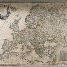 Arte: GRAN MAPA DE EUROPA, 1751. ROBERT DE VAUGONDY. Lote 193074382