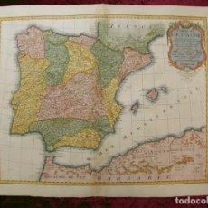 Arte: GRAN MAPA DE ESPAÑA Y PORTUGAL, 1789. DELISLE/BUACHE/DEZAUCHE. Lote 170420541