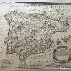 Arte: GRAN MAPA DE ESPAÑA Y PORTUGAL, 1679. NICOLAS SANSON/DESRASIERS. Lote 170445780