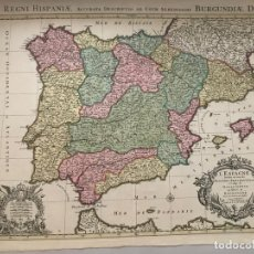 Arte: GRAN MAPA DE ESPAÑA Y PORTUGAL, 1730. JAILLOT/OTTENS. Lote 170450972