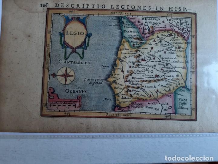 Arte: MAPA DEL REINO DE LEON. PETRUS BERTIUS. 1616 - Foto 2 - 170827435