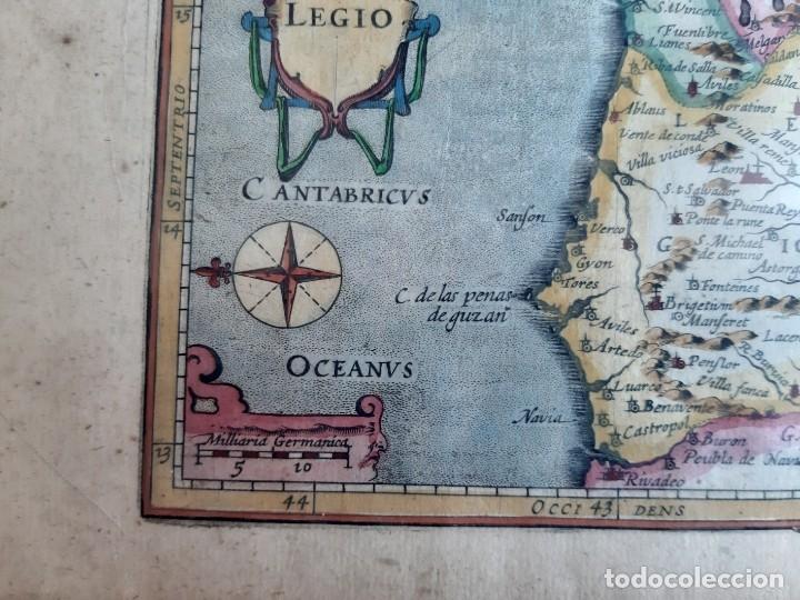 Arte: MAPA DEL REINO DE LEON. PETRUS BERTIUS. 1616 - Foto 4 - 170827435