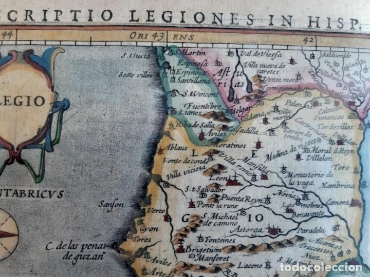 Arte: MAPA DEL REINO DE LEON. PETRUS BERTIUS. 1616 - Foto 5 - 170827435
