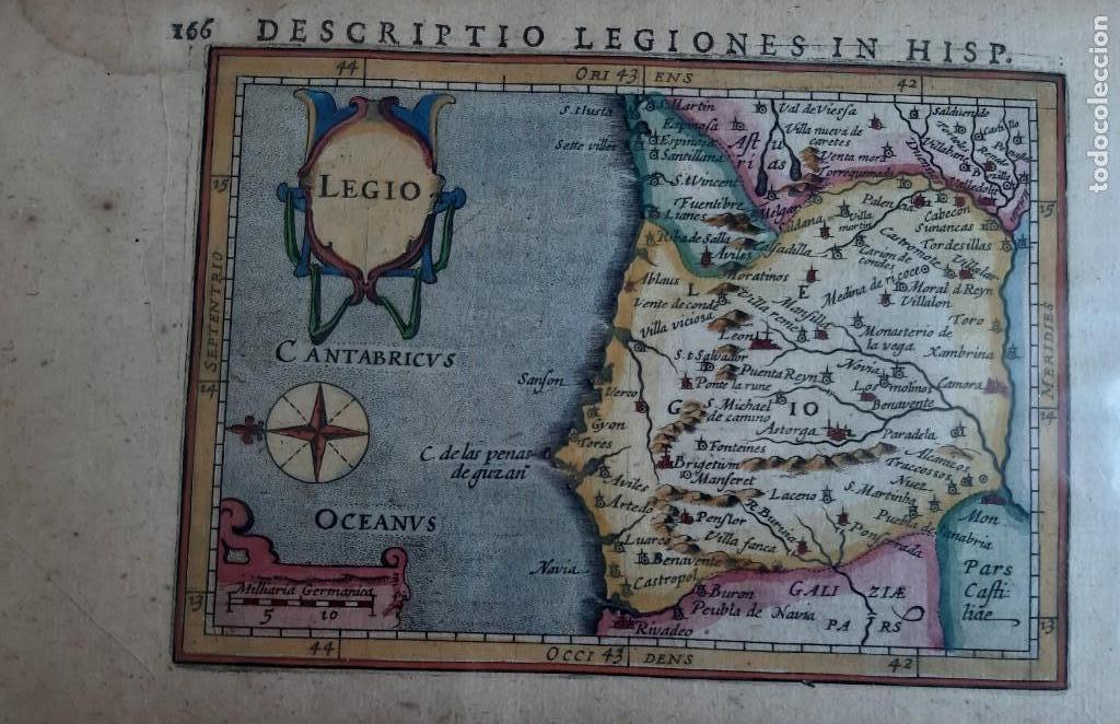 MAPA DEL REINO DE LEON. PETRUS BERTIUS. 1616 (Arte - Cartografía Antigua (hasta S. XIX))
