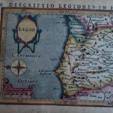 Arte: MAPA DEL REINO DE LEON. PETRUS BERTIUS. 1616. Lote 170827435
