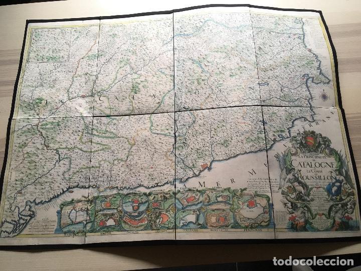 MAPA 1703 - LA PRINCIPAUTÉ DE CATALOGNE ET LE COMTÉ DE ROUSILLON FACSÍMIL - LIMITADO Y NUMERADO (Arte - Cartografía Antigua (hasta S. XIX))
