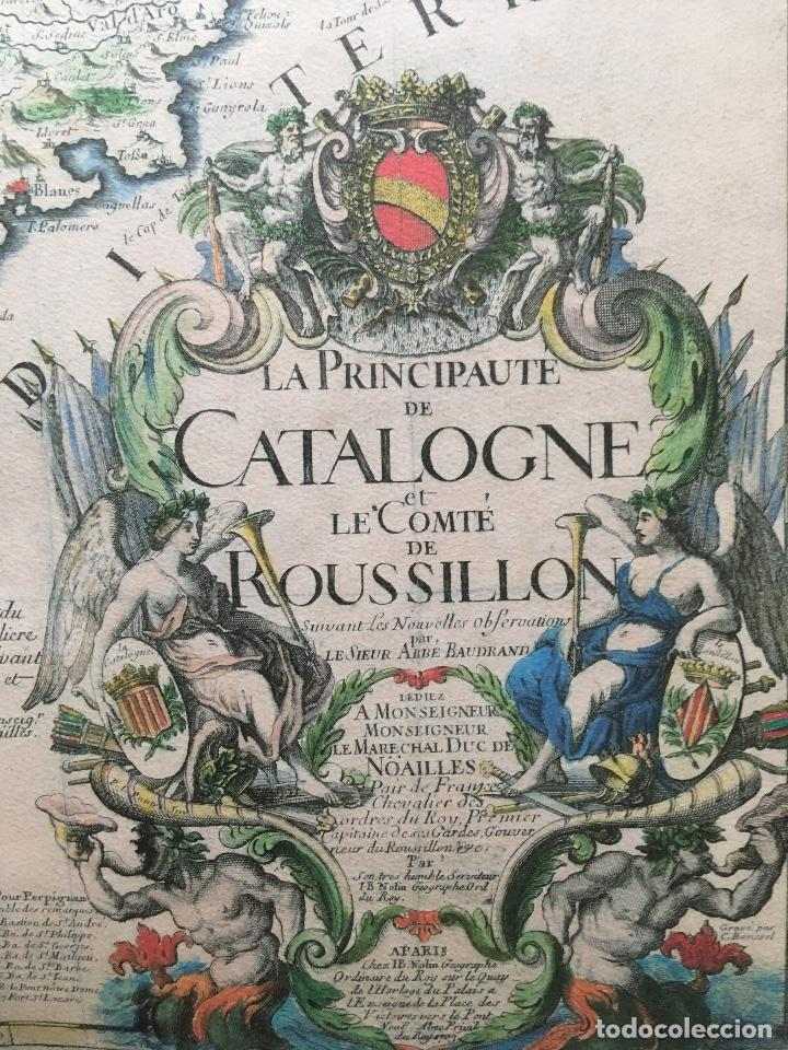 Arte: MAPA 1703 - LA PRINCIPAUTÉ DE CATALOGNE ET LE COMTÉ DE ROUSILLON Facsímil - limitado y numerado - Foto 2 - 171009932