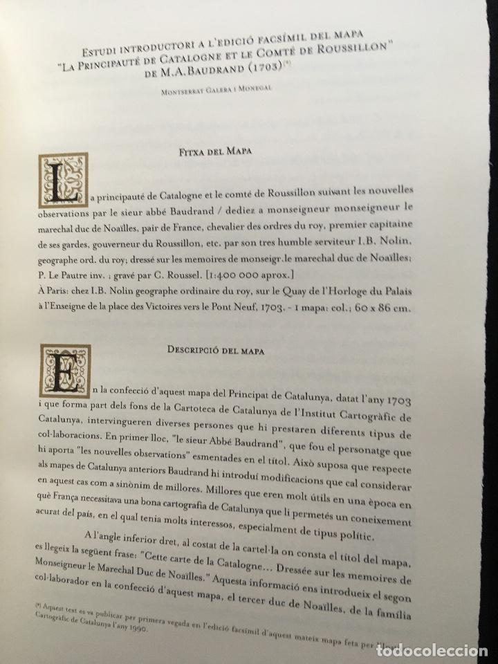 Arte: MAPA 1703 - LA PRINCIPAUTÉ DE CATALOGNE ET LE COMTÉ DE ROUSILLON Facsímil - limitado y numerado - Foto 8 - 171009932