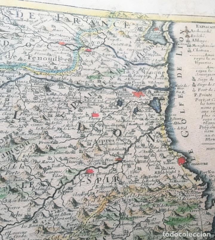 Arte: MAPA 1703 - LA PRINCIPAUTÉ DE CATALOGNE ET LE COMTÉ DE ROUSILLON Facsímil - limitado y numerado - Foto 13 - 171009932
