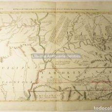 Arte: [MAPA. TIERRAS CHEROKEE, VIRGINIA Y PARTE DE CAROLINA] ZATTA, ANTONIO. IL PAESE DE CHERACHESI,.... Lote 171084850