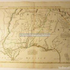 Arte: [MAPA. FLORIDA, RÍO MISSISIPI, CAROLINA, GOLFO DE MÉXICO. 1778] ZATTA, ANTONIO. LUIGIANA INGLESE,.. . Lote 171085022