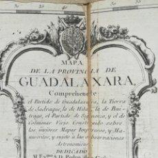 Arte: MAPA DE GUADALAJARA - COLMENAR VIEJO - TOMAS LOPEZ - AÑO 1766 - ES ORIGINAL. Lote 171182197