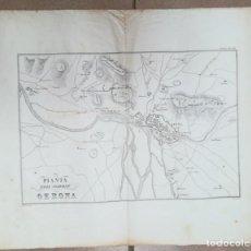 Arte: MAPA DE GIRONA 1809 ITALIÀ - GUERRA DEL FRANCES O DE LA INDEPENDENCIA - C. 1850 - ES ORIGINAL- . Lote 171183637