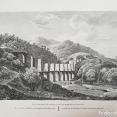 Arte: GRABADO DEL PUENTO DE LLADONE LLADONER - BARCELONA - LABORDE - AÑO 1806 - ES ORIGINAL. Lote 171184983