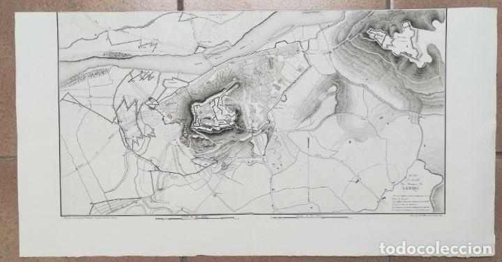 MAPA DE LLEIDA - GUERRA DEL FRANCES O DE LA INDEPENDENCIA - SUCHET - AÑO 1828 (Arte - Cartografía Antigua (hasta S. XIX))