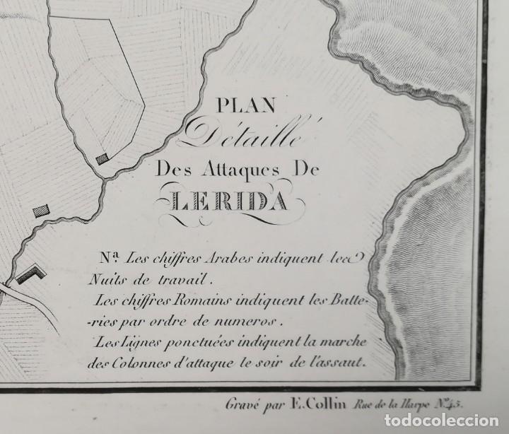 Arte: MAPA DE LLEIDA - GUERRA DEL FRANCES O DE LA INDEPENDENCIA - SUCHET - AÑO 1828 - Foto 2 - 171189169