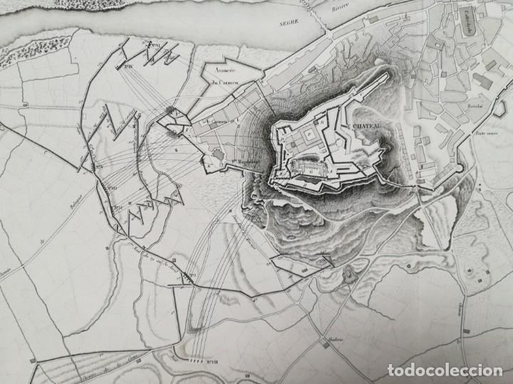 Arte: MAPA DE LLEIDA - GUERRA DEL FRANCES O DE LA INDEPENDENCIA - SUCHET - AÑO 1828 - Foto 3 - 171189169