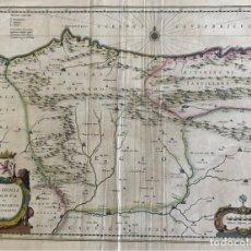 Arte: GRAN MAPA A COLOR DE ASTURIAS, CANTABRIA, CASTILLA Y LEÓN (ESPAÑA), 1652. WILHELM BLAEU. Lote 171240674