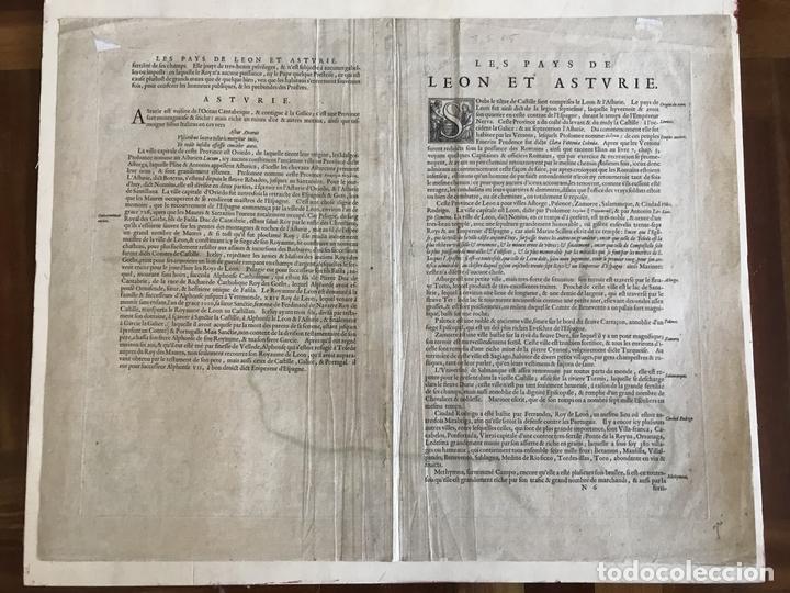Arte: Gran mapa a color de Asturias, Cantabria, Castilla y León (España), 1652. Wilhelm Blaeu - Foto 11 - 171240674